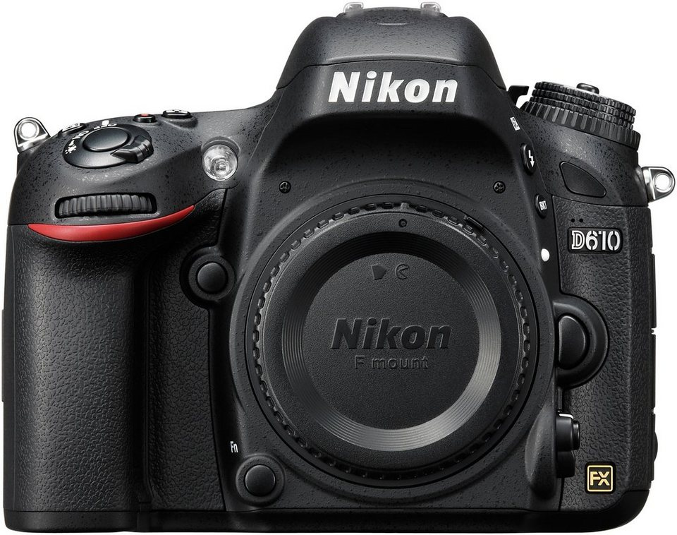 Nikon D610 Body Spiegelreflex Kamera, 24,3 Megapixel, 8 cm (3,2 Zoll) Display in schwarz