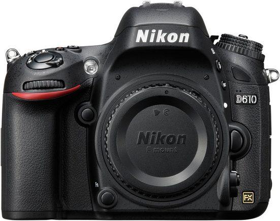 Nikon »D610« Spiegelreflexkamera (24,3 MP, Videoaufnahmen in Full HD 1080p)