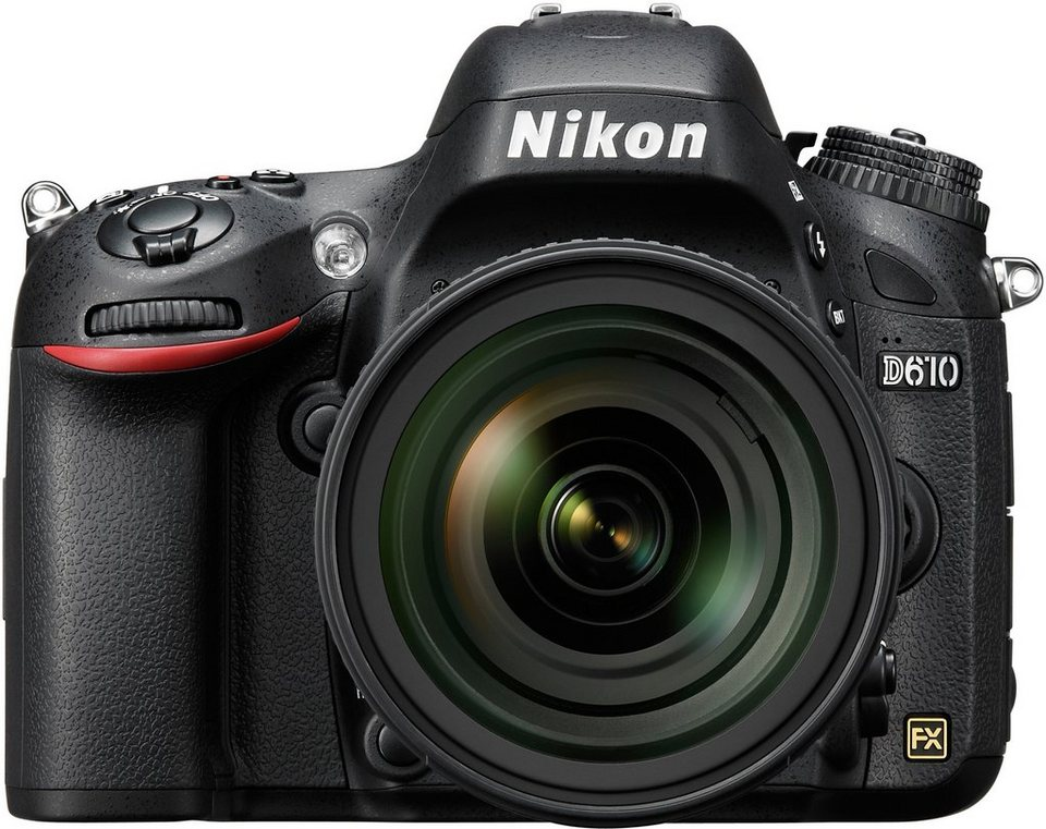 Nikon D610 Spiegelreflex Kamera, AF-S 24-85 VR Zoom, 24,3 Megapixel, 8 cm (3,2 Zoll) Display in schwarz