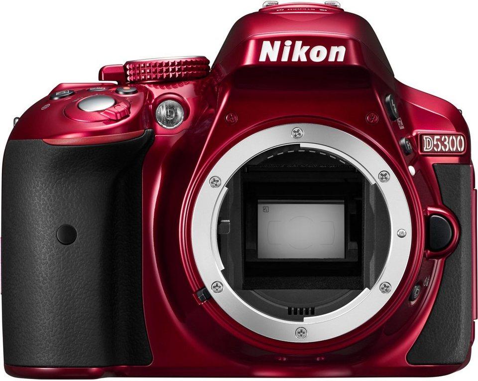 NIKON D5300 Body Spiegelreflex Kamera, 24,2 Megapixel, 8,1 cm (3,2 Zoll) Display in rot