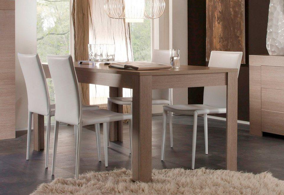 LC Esstisch, Breite 160 oder 180 cm in eichefb. grau