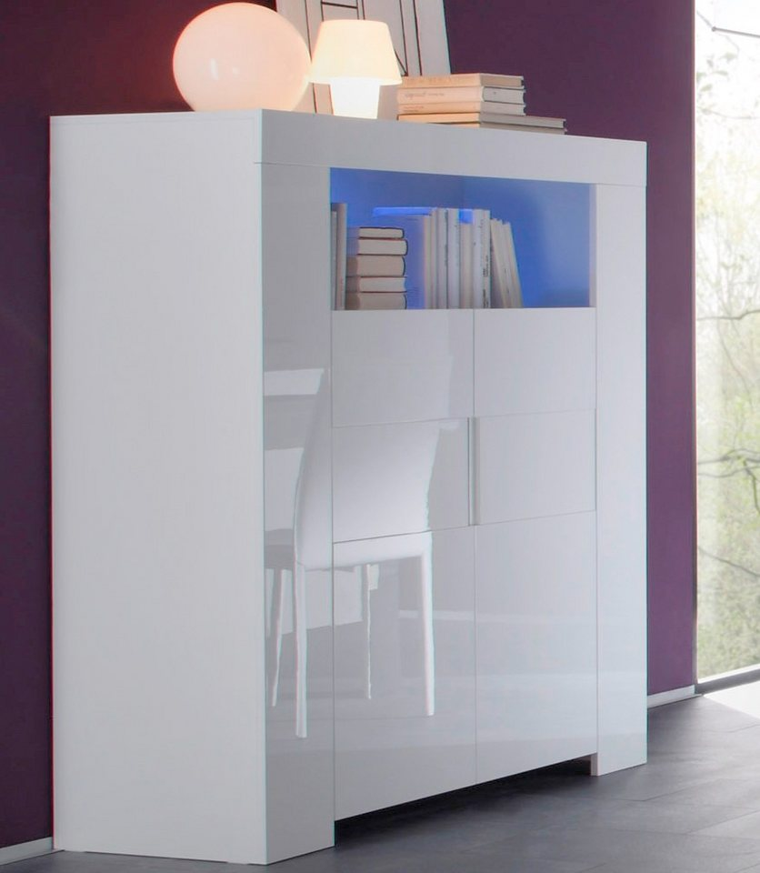 LC Highboard, Breite 119 cm in weiß