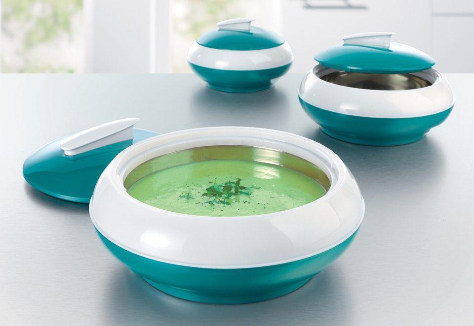 GOURMETmaxx Thermoschüsseln 3er-Set, smaragdgrün
