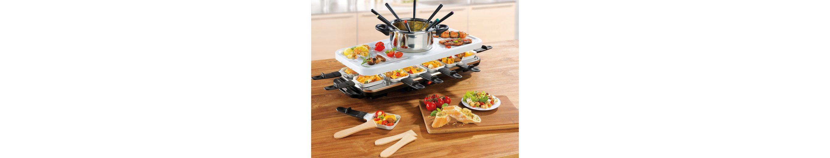 gourmetmaxx Raclette- und Fondue Set, Keramik, 1600 Watt
