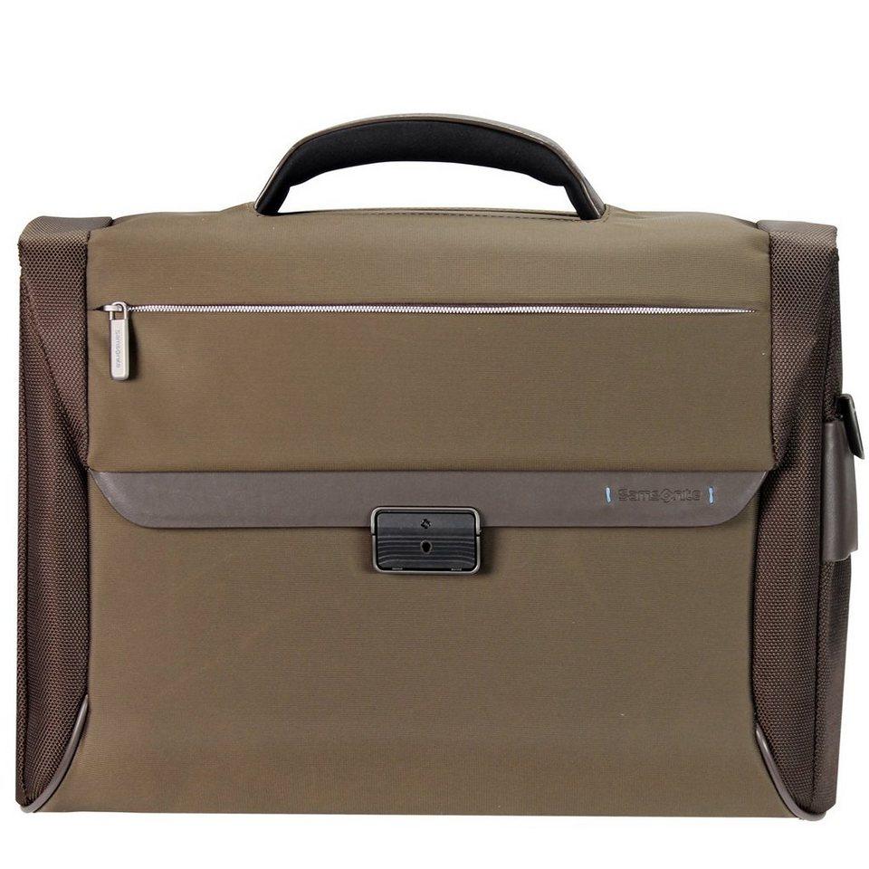 Samsonite Spectrolite Aktentasche Briefcase 43,5 cm Laptopfach in tabacco