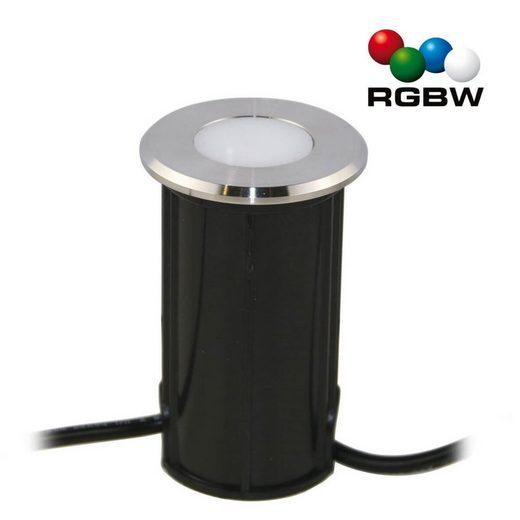 "VBLED LED Einbaustrahler »VBLED LED Bodeneinbauleuchte ""Callis"" RGB+Warmweiß 1W 12V AC/DC (Leuchtmittel wechselbar)«"
