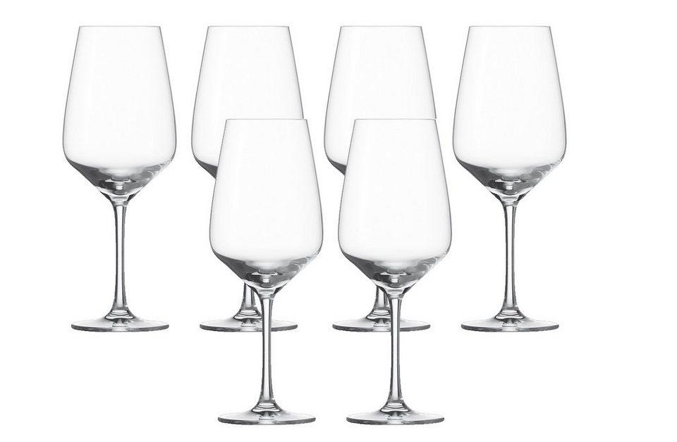 Schott Zwiesel Set: Rotweinglas 6er-Set »Taste« in Transparent