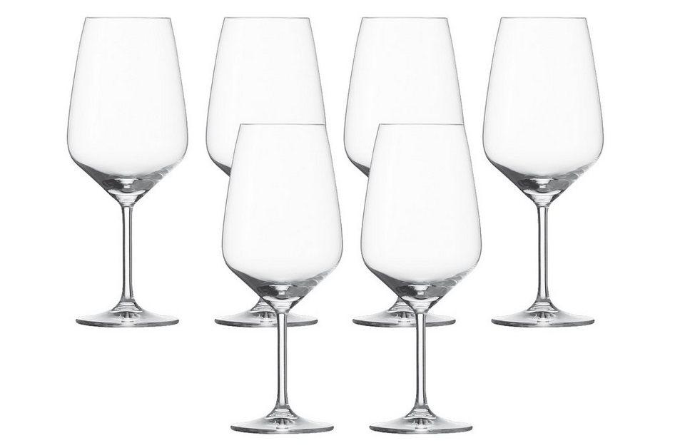 Schott Zwiesel Set: Bordeauxglas 6er-Set »Taste« in Transparent
