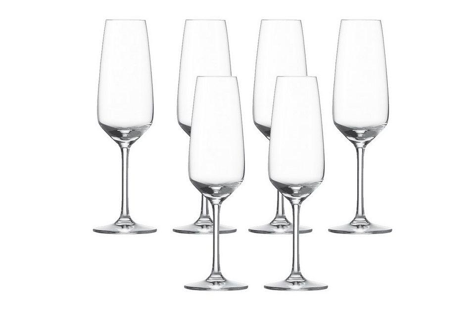Schott Zwiesel Set: Sektglas 6er-Set »Taste« in Transparent