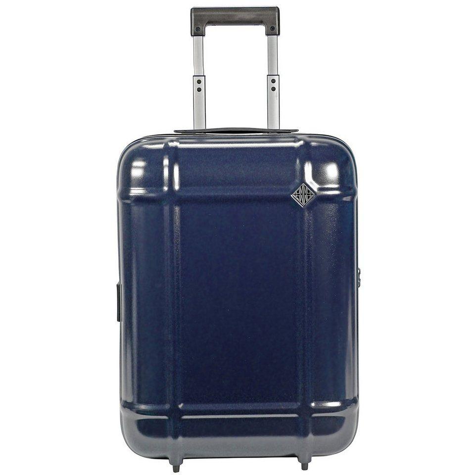 FPM Globe Upright 2-Rollen Kabinen-Trolley 55 cm in black blue