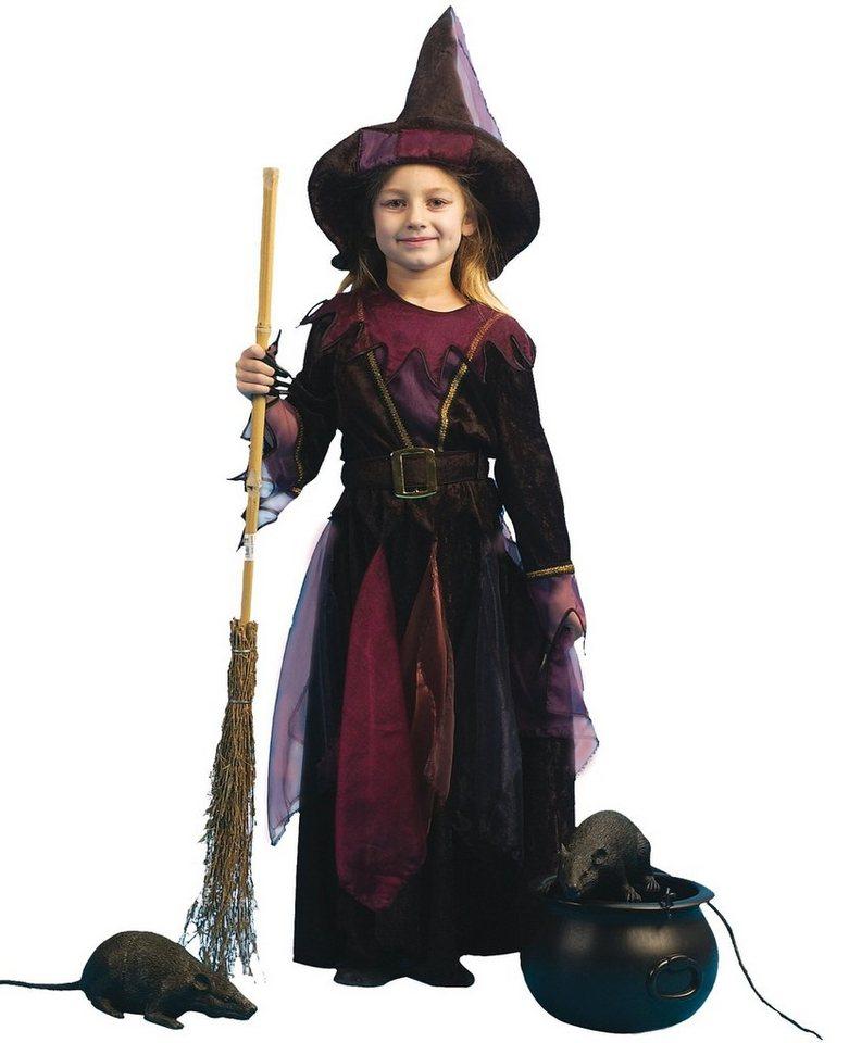 Funny Fashion Kostüm Hexlein mit Hut und Gürtel in Hexe