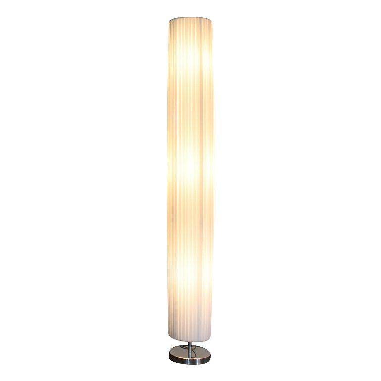 SalesFever Stehlampe im Art Deco Design rund 160 cm in weiß