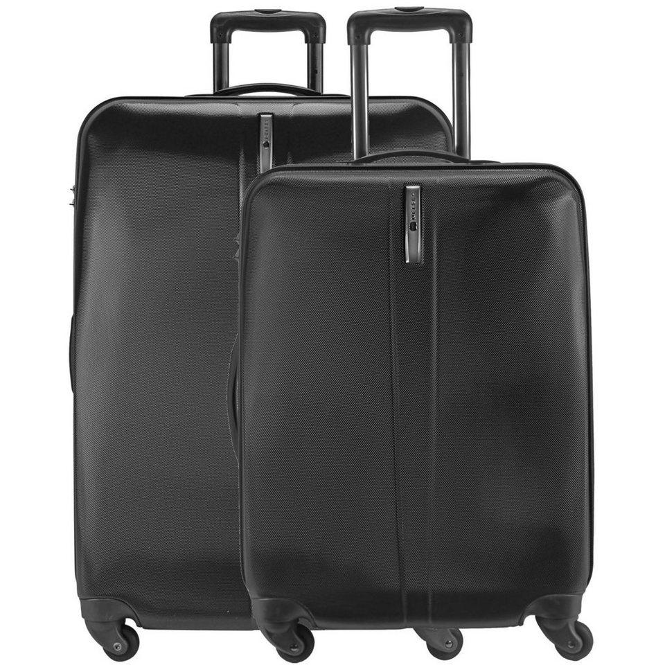Delsey Schedule 4-Rollen Trolley Kofferset 2tlg. in schwarz
