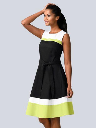 Alba Moda Kleid im modischen Colour-Blocking