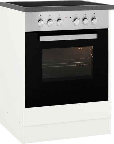 HELD MÖBEL Herdumbauschrank »Virginia« 85 cm hoch, 60 cm breit, Nische für Ofen B/H/T: 56/59/55 cm, hochwertige MDF-Fronten