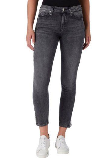 Calvin Klein Jeans Skinny-fit-Jeans »MID RISE SKINNY ANKLE« mit kleinem Schlitz innen mit Calvin Klein Logo-Paspel