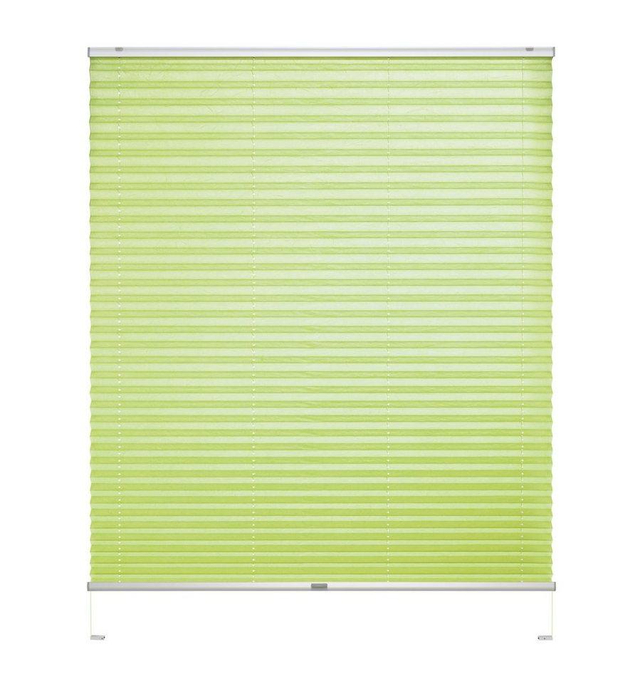 Plissee, Good Life, »Rena« silbernes Profil, nach Wunschmaß, Lichtschutz, Crush (1 Stck.) in grün