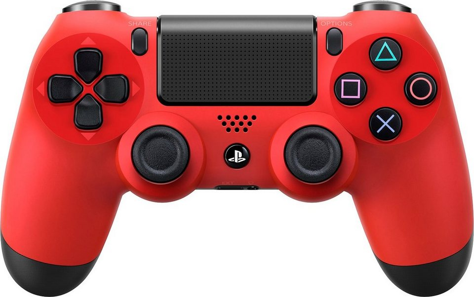 PS4 Dualshock4 Wireless Controller, rot in rot