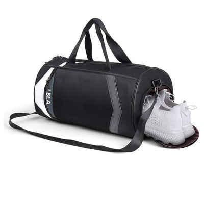 LBLA Sporttasche »2 in 1 Freizeit-Sporttasche Herren Damen« (Trainingstasche, Reisetasche, Schwimmtasche), Fitnesstasche Rucksack-Funktion, Reisetasche mit Schuhfach