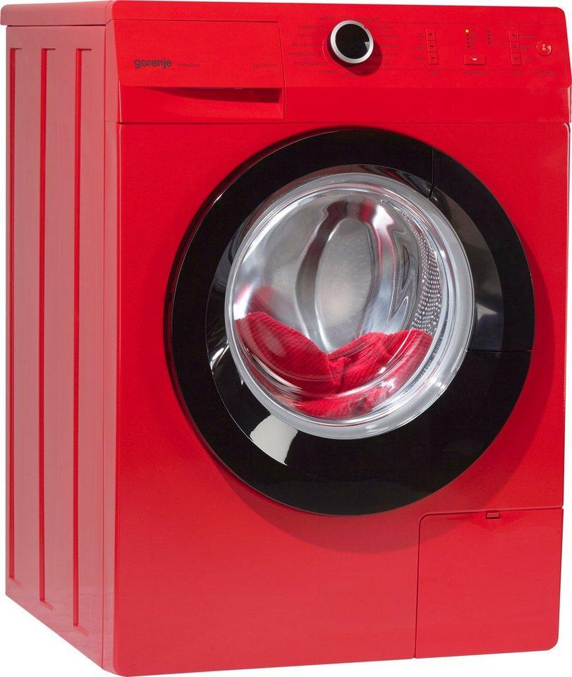 GORENJE Waschmaschine W7243PR A+++, A+++, 7 kg, 1400 U/Min in rot