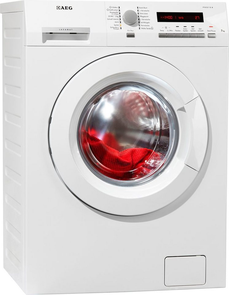 AEG Waschmaschine L7347FL, A+++, 7 kg, 1400 U/Min in weiß