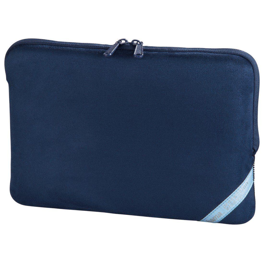 Hama Notebook-Sleeve Velour Style, bis 30 cm (11,6), Indigo