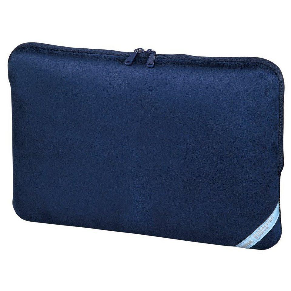Hama Notebook-Sleeve Velour Style, bis 44 cm (17,3), Indigo in Blau
