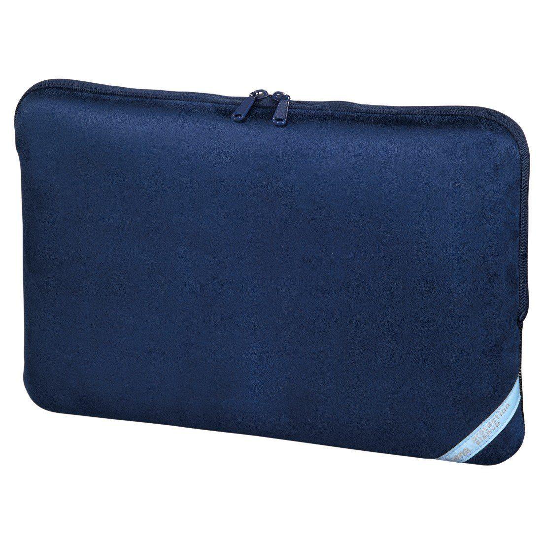 Hama Notebook-Sleeve Velour Style, bis 44 cm (17,3), Indigo