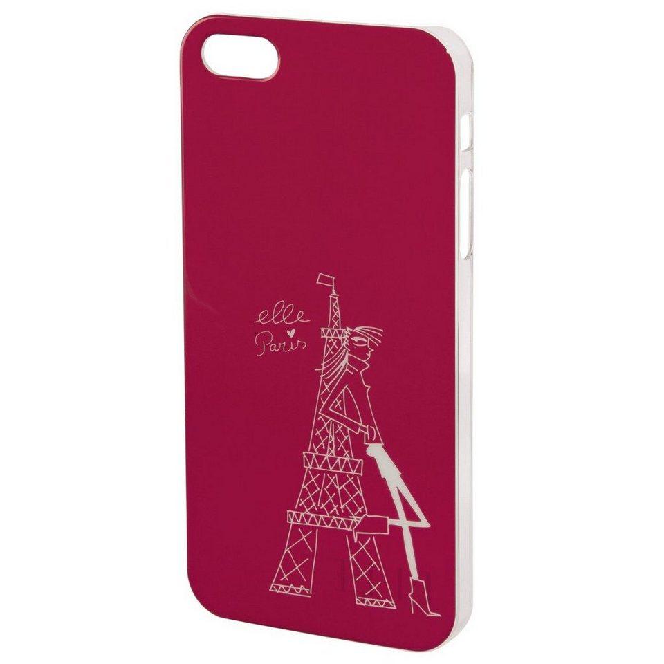 ELLE Handy-Cover Tour Eiffel für Apple iPhone 5/5s/SE, Pink in Pink