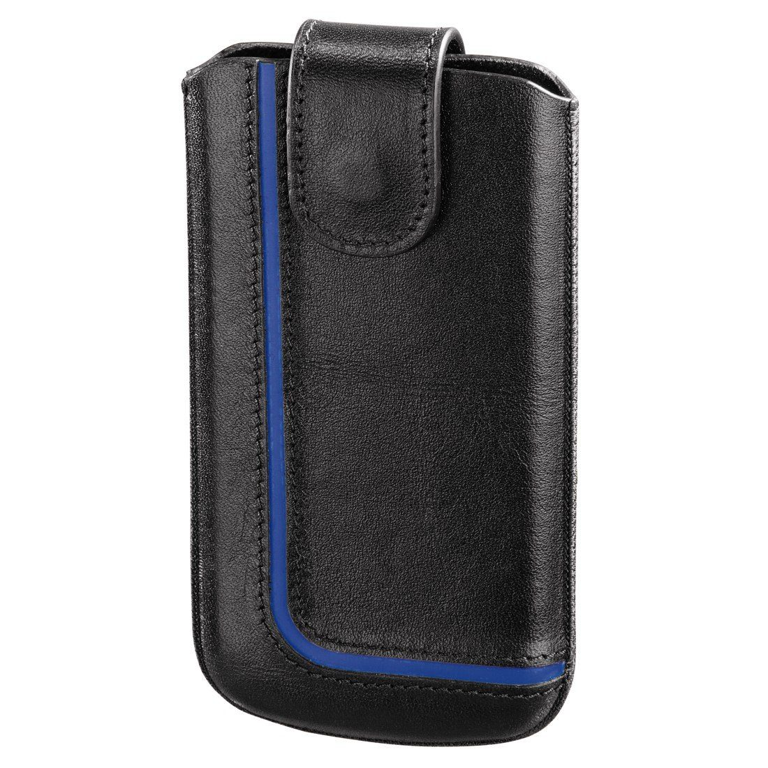 Hama Handy-Sleeve Neon Black, Gr. M, Schwarz/Blau