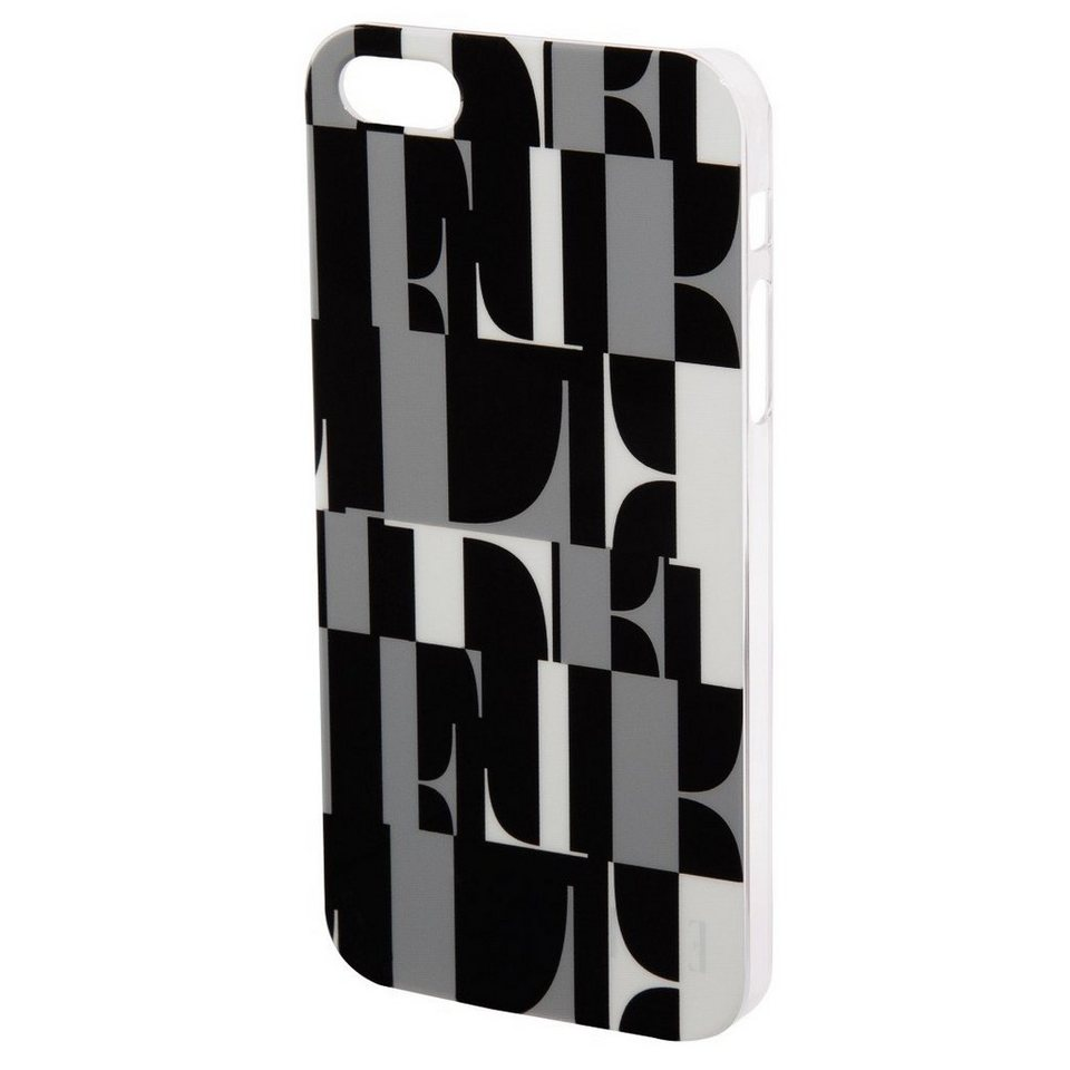 ELLE Handy-Cover ELLE original für Apple iPhone 5/5s/SE, Schwarz in Schwarz
