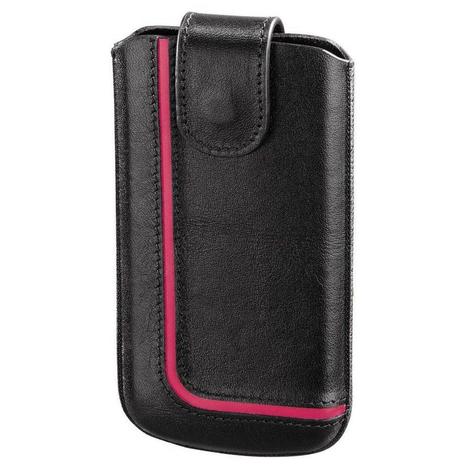 Hama Handy-Sleeve Neon Black, Gr. M, Schwarz/Pink in Schwarz