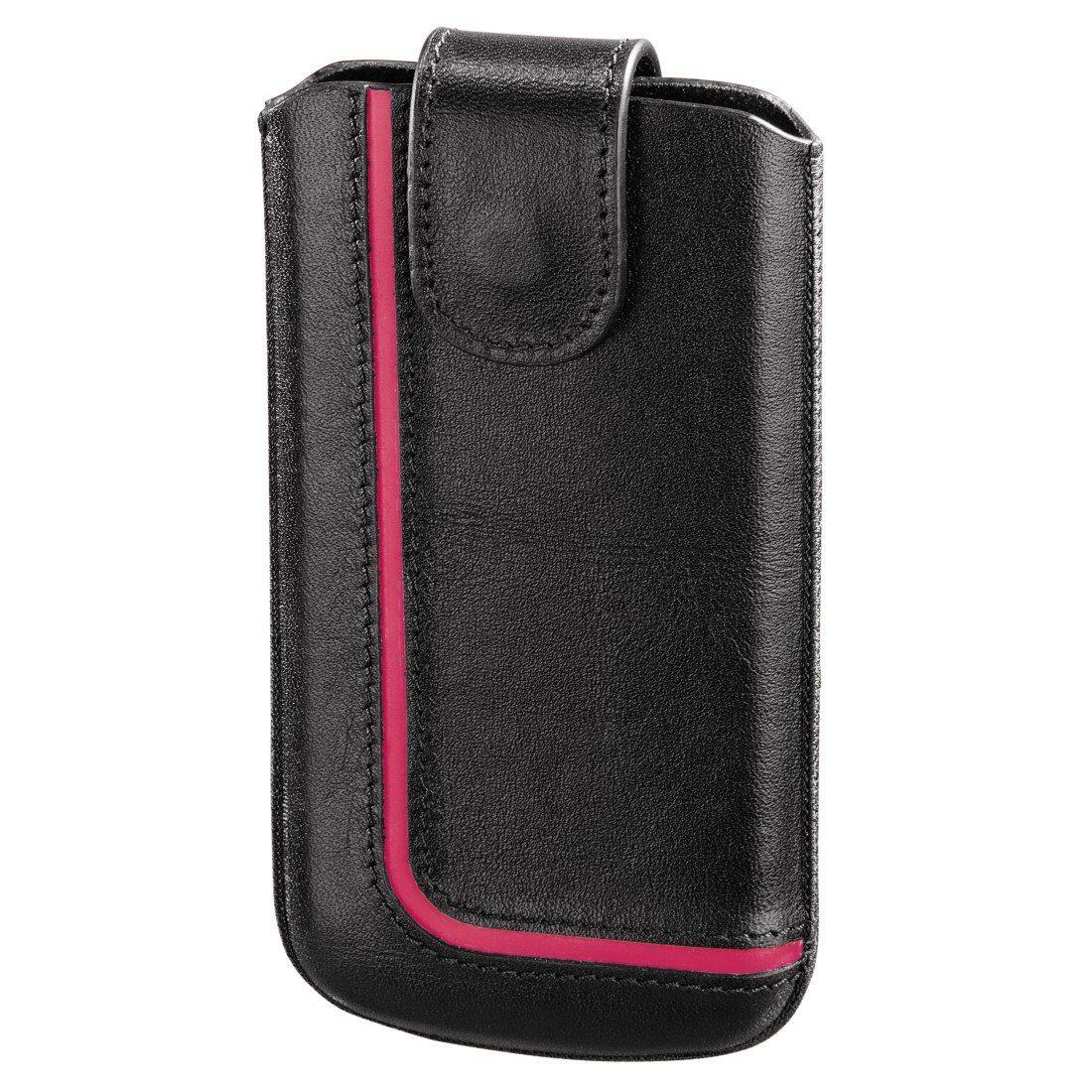 Hama Handy-Sleeve Neon Black, Gr. M, Schwarz/Pink
