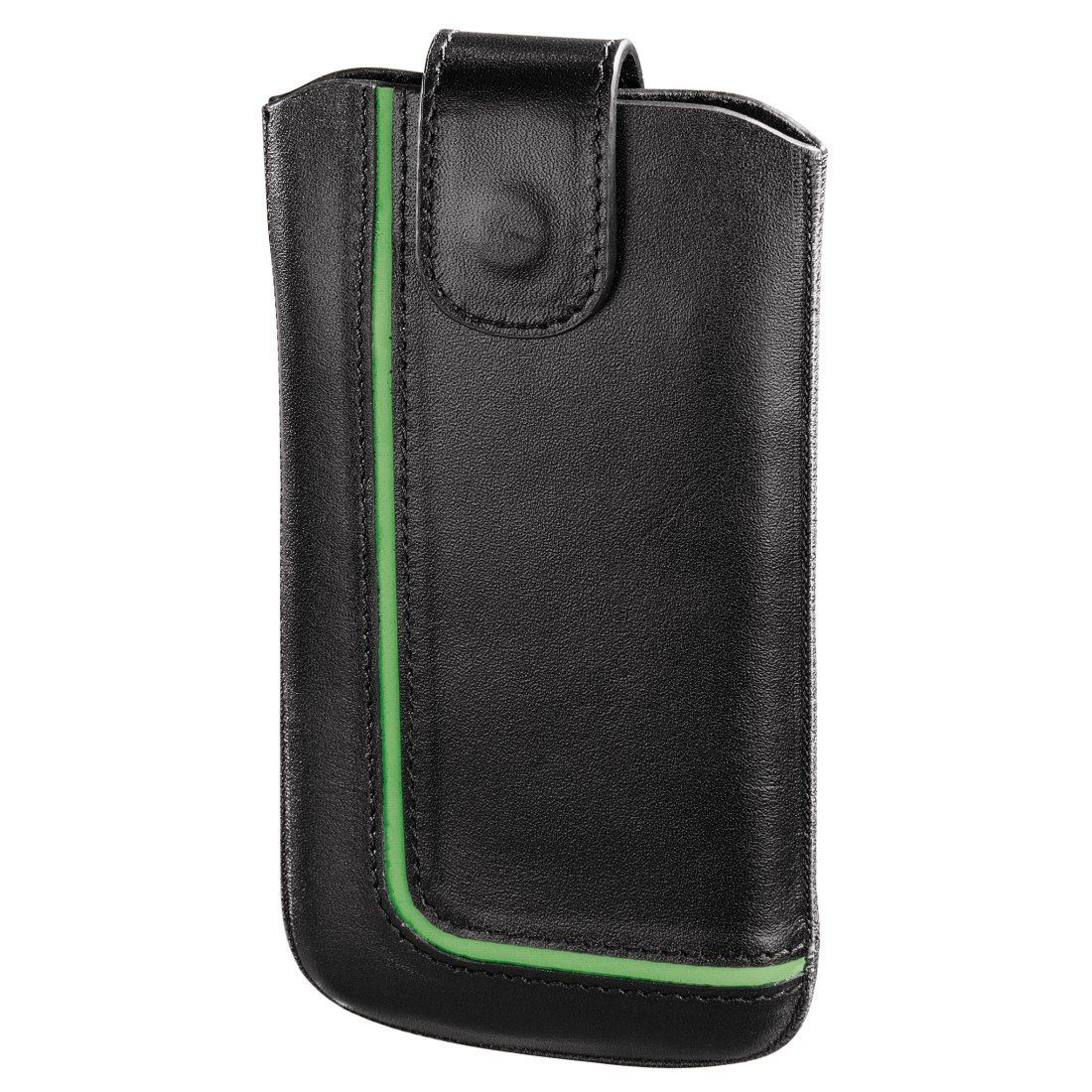 Hama Handy-Sleeve Neon Black, Gr. XL, Schwarz/Grün