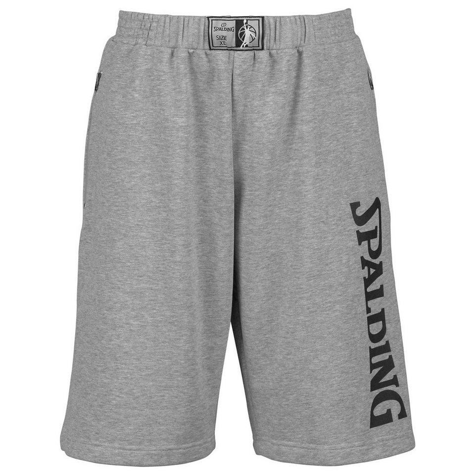 SPALDING Team Shorts Kinder in grau melange/schwarz