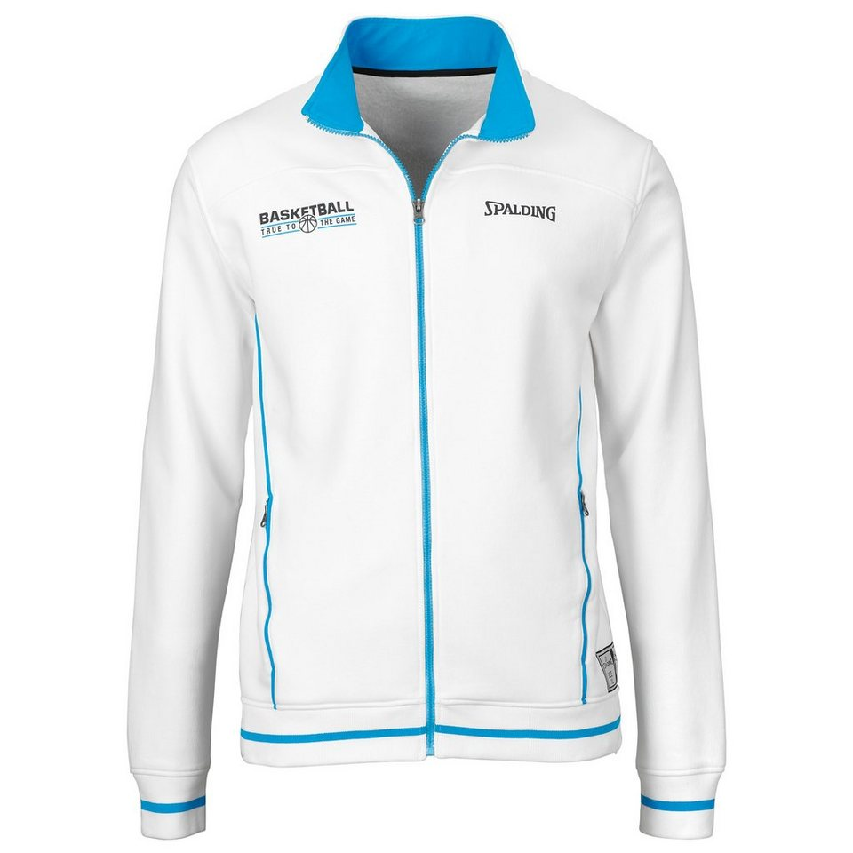SPALDING Team Zipper Jacket Herren in weiß/cyan