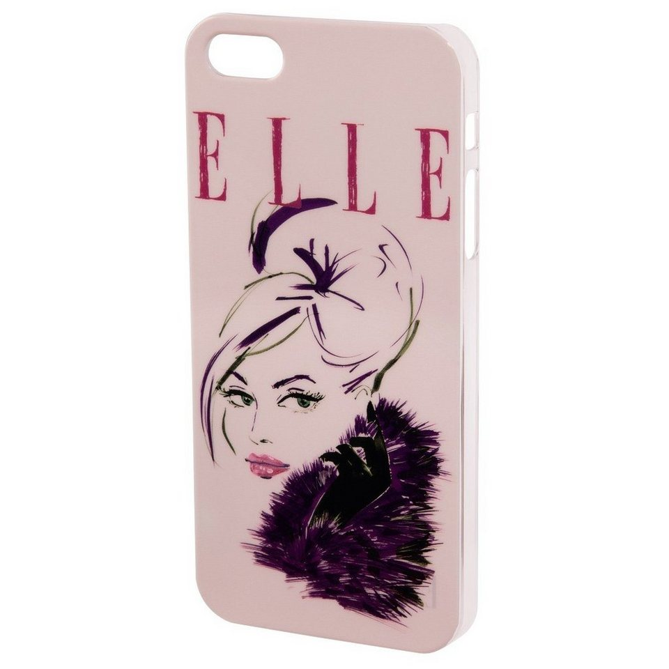 ELLE Handy-Cover Lady in Pink für Apple iPhone 5/5s/SE, Rosa in Pink