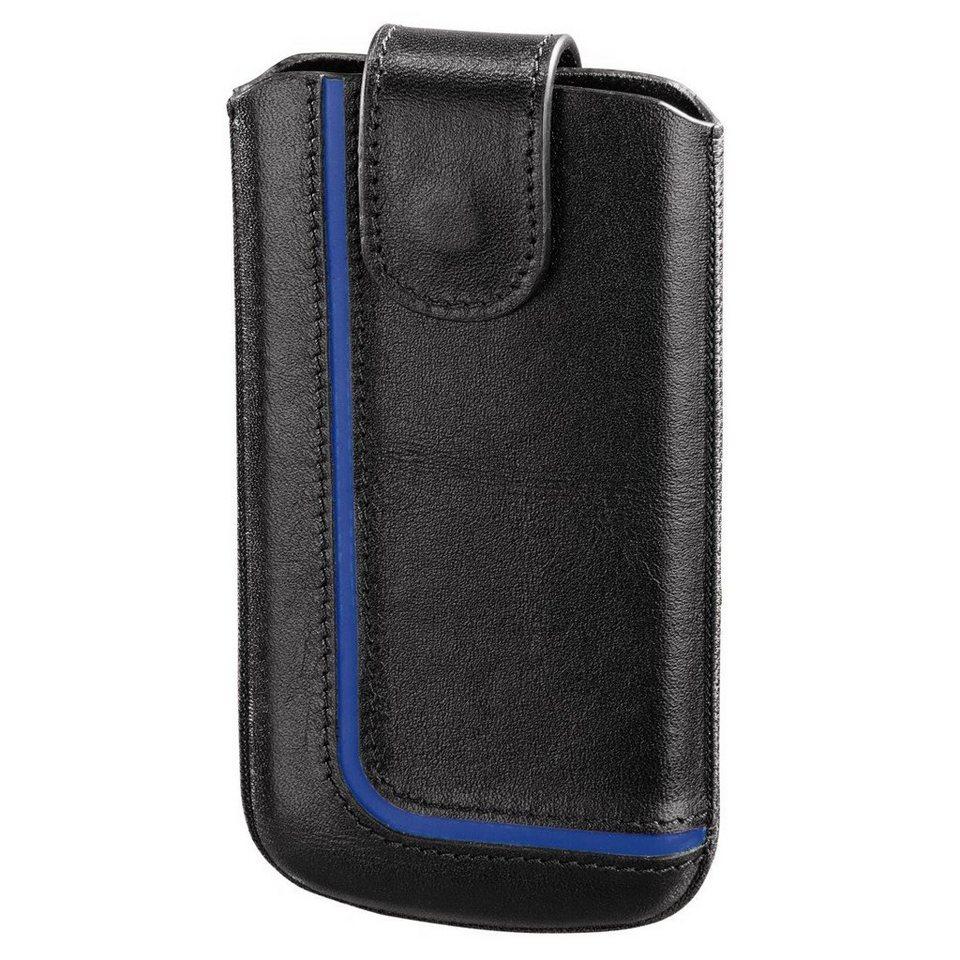 Hama Handy-Sleeve Neon Black, Gr. XL, Schwarz/Blau in Schwarz