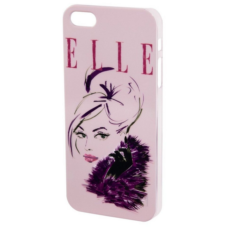 ELLE Handy-Cover Lady in Pink für Apple iPhone 4/4S, Rosa in Pink
