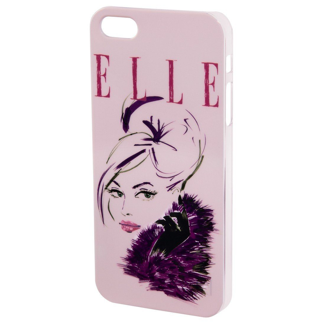 ELLE Handy-Cover Lady in Pink für Apple iPhone 4/4S, Rosa