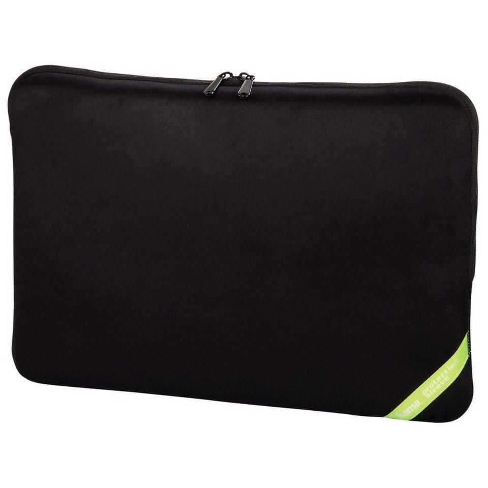 Hama Notebook-Sleeve Velour Style, bis 44 cm (17,3), Schwarz in Schwarz
