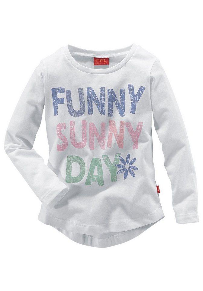 CFL Langarmshirt für Mädchen in weiß
