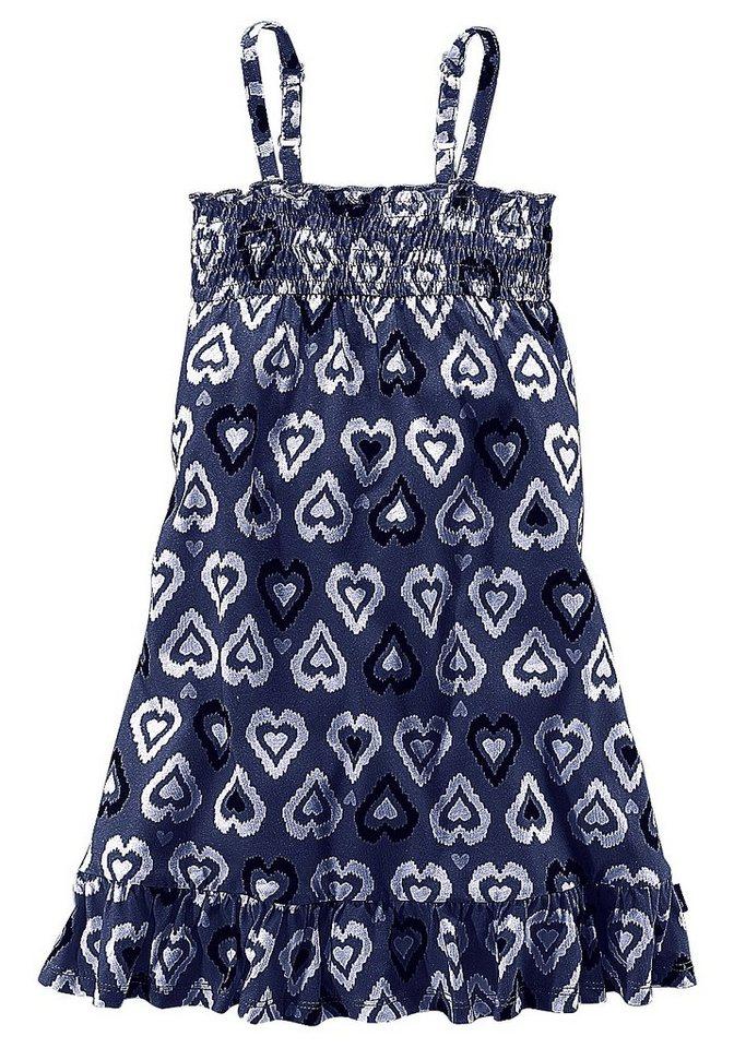 PETITE FLEUR Jerseykleid mit Smok, für Mädchen in Blau