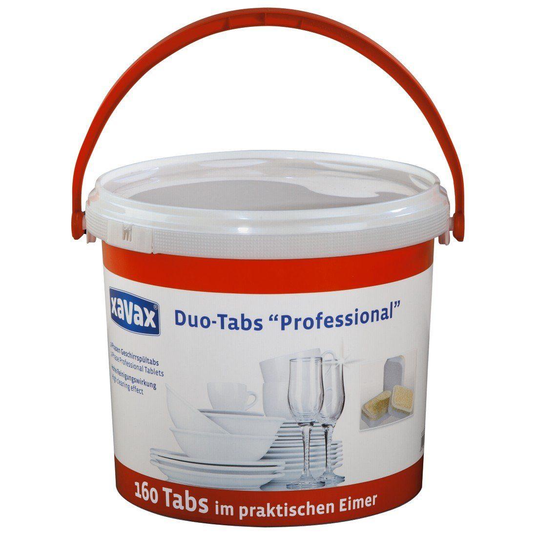 Xavax 2-Phasen-Profi-Tabs für Geschirrspülmaschinen, 160 im Eimer »Geschirrspültabs, Spültabs«