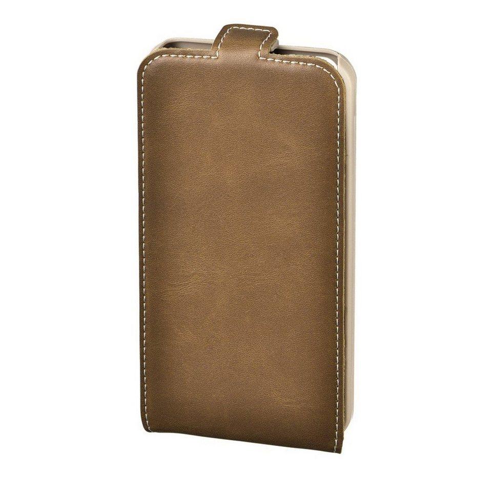 Hama Flap-Tasche Guard Case für Apple iPhone 5c, Braun/Natur in Braun