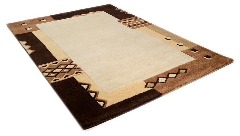 Teppich, Theko, »Florida 3193«, handgetuftet, Wolle in braun
