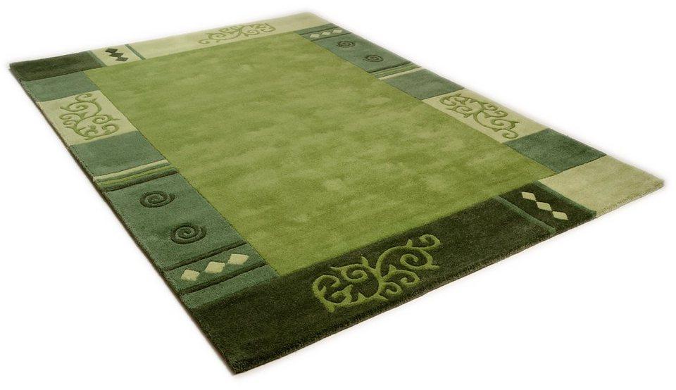 Teppich »Ambadi«, Theko, rechteckig, Höhe 14 mm in grün