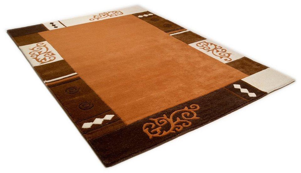 teppich theko ambadi handgearbeiteter konturenschnitt handgetuftet reine schurwolle. Black Bedroom Furniture Sets. Home Design Ideas
