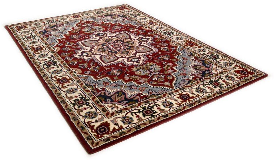 Orient-Teppich, Theko, »Royal Heriz«, 4kg/m², handgetuftet, reine Schurwolle in rot