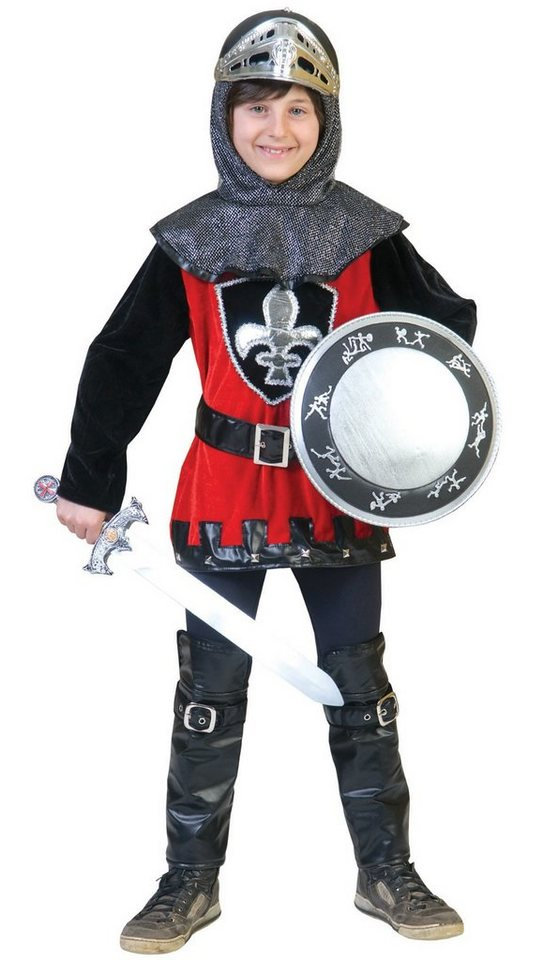 Funny Fashion Kostüm schwarzroter Ritter in Ritter